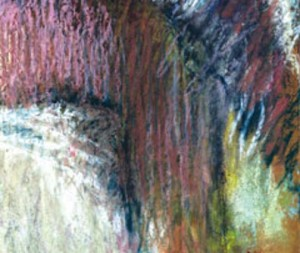 detail of a pastel painting