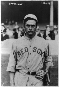 Boston Red Sox baseball star Harry Hooper (1910s news service photo by George Grantham Bain). B