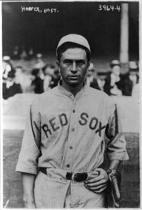 Boston Red Sox baseball star Harry Hooper (1910s news service photo by George Grantham Bain). B
