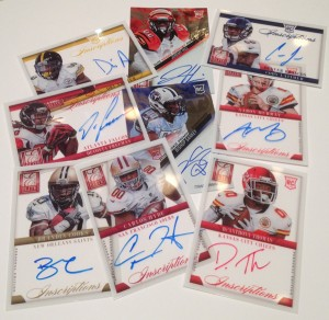 Autographed 2014 NFL draft pick cards