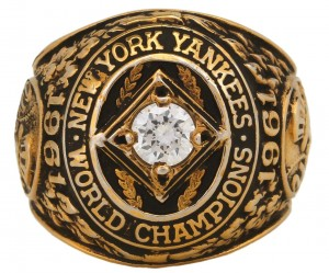 Salesman's sample 1961 Yankees World Series ring