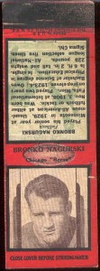 The sought after Bronko Nagurski Diamond Matches matchbook