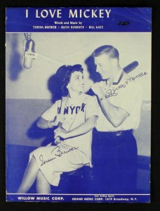 "1950s 'I Love Mickey (Mantle)"" sheet music"