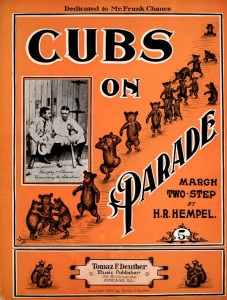 1907 Chicago Cubs sheet music