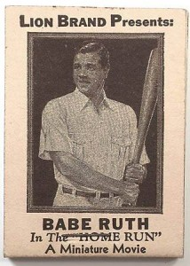 1922 Babe Ruth flip booklet