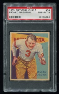 1935 Chicle Nagurski PSA 8