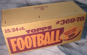 Topps 1978 Football Cello case