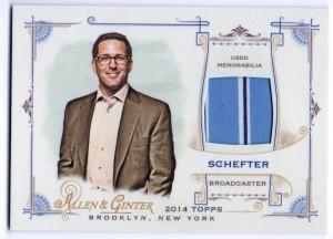 2014 Topps Allen Ginter Adam Schefter relic