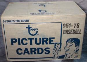 Topps 1976 baseball vending case