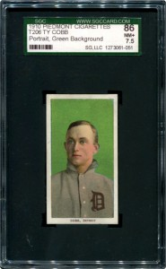 Ty Cobb T206 green background SGC 86