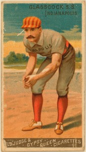 An example of chromolithography: 1880s Goodwin Champions baseball card