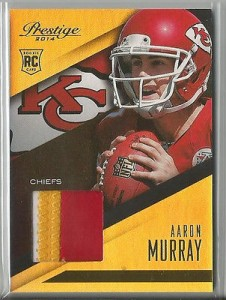 Aaron Murray jumbo patch 2014 Prestige