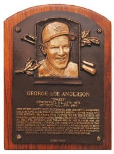 Hall of Fame plaque Sparky Anderson