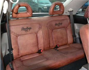 Rawlings seats baseball car