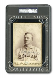Cy Young autographed cabinet photo