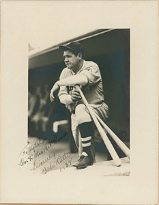 Babe Ruth autographed 11x14 Burke photo.