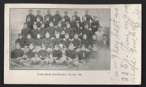 Early 1900s Carlisle Football team postcard