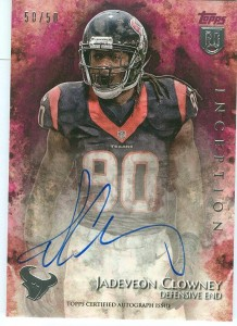 2014 Topps Inception Jadeveon Clowney