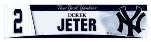 Yankees lockerroom name plate Derek Jeter
