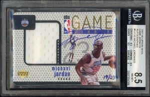 Michael Jordan Game Jersey Card 1997-98