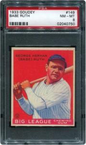 Babe Ruth 1933 Goudey PSA 8