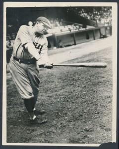 Babe Ruth 1927 swing photo