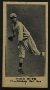 1915 Babe Ruth Sporting News baseball card
