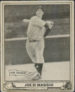 Joe DiMaggio 1940 Play Ball