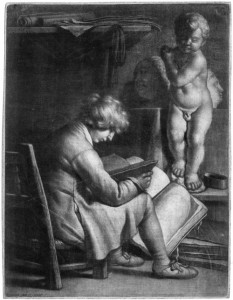 An early mezzotint showing the distinct dark-to-light tonal qualities