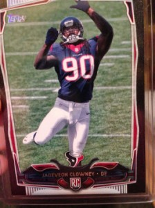 2014 Topps black parallel Jadeveon Clowney
