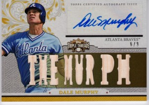 Dale Murphy 2014 Topps Triple Threads relic
