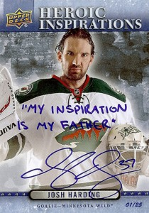 Upper-Deck-Heroic-Inspirations-Josh-Harding-Autograph-Inscription-14-15-NHL-O-Pee-Chee