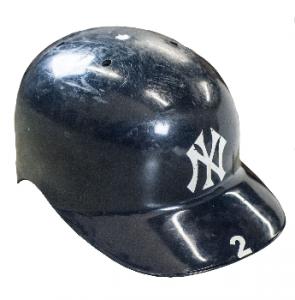 Game used Derek Jeter helmet