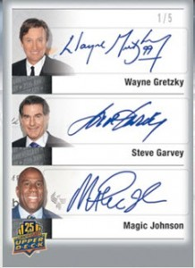 City Signatures Upper Deck triple auto