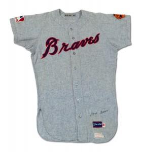 1960s Braves road jersey Hank Aaron
