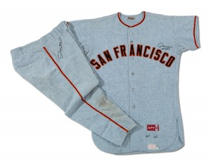 1960s Willie Mays Giants road uniform