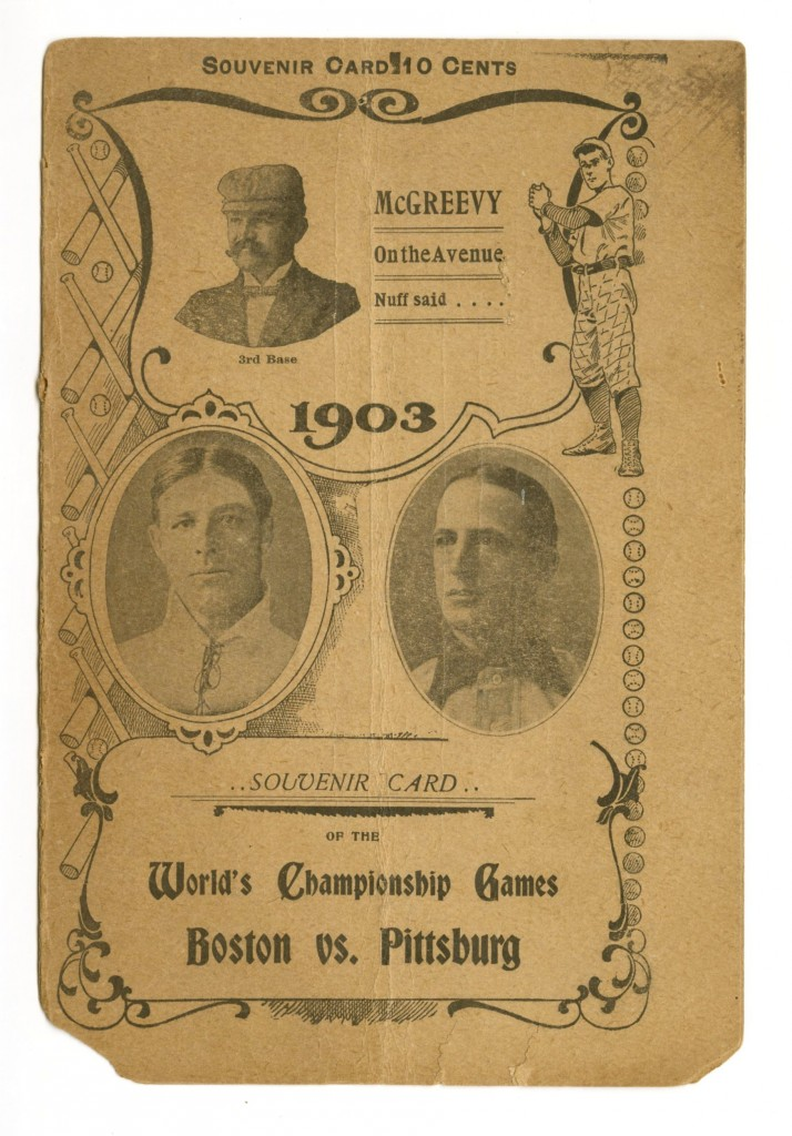 First World Series program