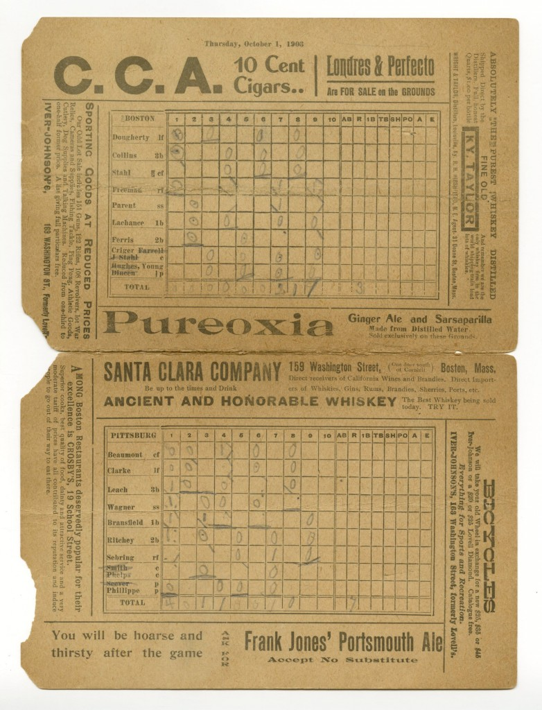 Scorecard first World Series