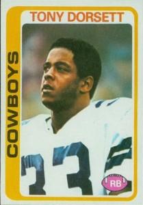 Tony Dorsett 1978 Topps