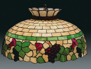 Expensive antique lamp shades are often lead glass, and very heavy.