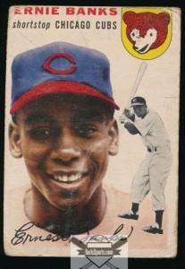 Ernie Banks rookie card 1954 Topps