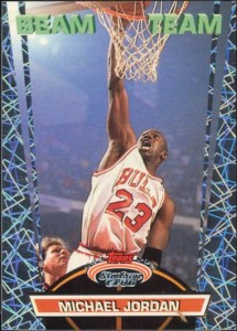 Michael Jordan 1992-93 Stadium Club Beam Team Card