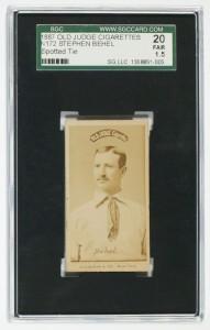 Stephen Behel 1887 Old Judge N172 Spotted Tie