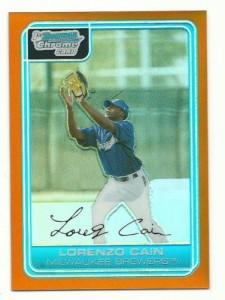 2006 Bowman Chrome Lorenzo Cain rookie card