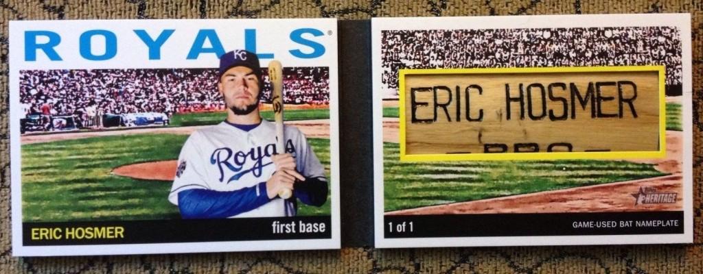 2014 Topps Heritage bat barrel Eric Hosmer