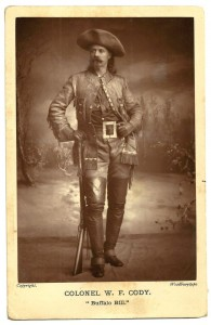 Late 1800s Woodburytype cabinet card of Buffalo Bill Cody.  Notice that it says 'Woodburytype' below the image