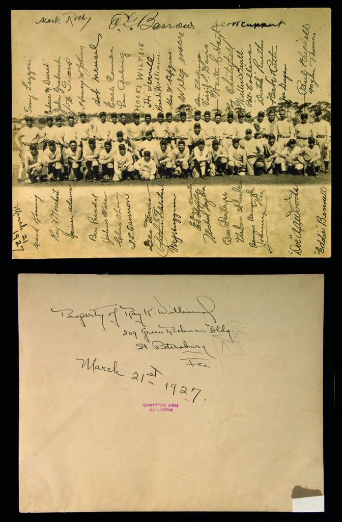 Autographed 1927 Yankees photo Hunt Auctions