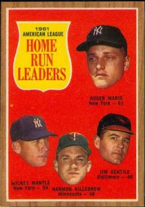 AL Home Run Leaders 1962 Maris-Mantle