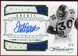 2014 Flawless Terrell Davis patch