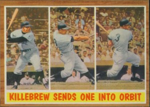Killebrew Sends One into Orbit 1962 Topps